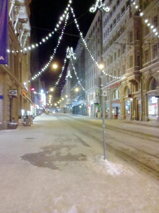 Einkaufsstraße in der Arktis